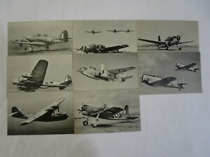 """Real Picture Postcards """"American Planes in the RAF"""" Complete Series Unused"""