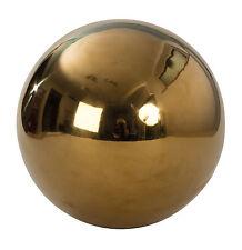 2 pièces DÉCO BOULES boules de jardin or en acier inoxydable Diamètre 15 cm
