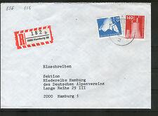 Ungeprüfte Briefmarken aus der BRD (1980-1989) mit Technik-Motiv
