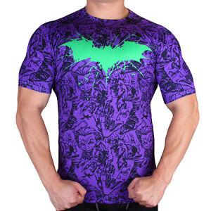 Batman Hero Logo Men Compression Shirt Top Short Sleeve Tight Outdoor Sport PP