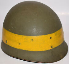 Original WWII US Military Westinghouse M1 helmet liner with Yellow Band Stripe