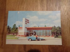 Vtg. MCM 1950s Florida Welcomes You Postcard - Great Architecture & Car!