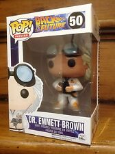 FUNKO POP! Back To The Future Dr. Emmett (DOC BROWN) #50 Vinyl Figure *New*