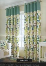 Floral Modern 100% Cotton Curtains & Pelmets