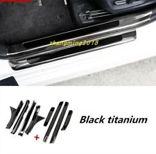 Black titanium Welcome Pedal Door Sill Scuff Panel For Toyota Camry 2018 2019