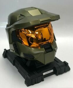 Halo 3 Legendary Edition Collectible Master Chief Helmet + Stand Xbox 360 #134
