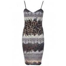 Ladies Sexy Animal Print Celeb Inspired CB Party Summer Dress Size 10 LAST ONE!!