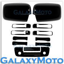 09-15 Dodge Ram Gloss Black Mirror+4 Door Handle+Tailgate w.Camera+Key Hol Cover