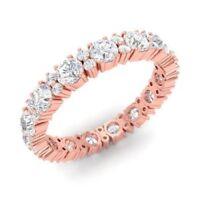 1.80 Ct Round Cut Diamond Wedding Eternity Band 14K Rose Gold Size 8 6 9