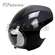 "Motorcycle 5-3/4"" Headlight Fairing Screen Retro Cafe Racer Style Drag Racing"