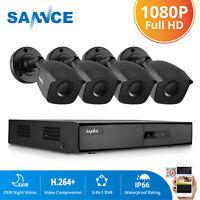 SANNCE 1080P HDMI 4CH DVR CCTV 2MP Security System Camera IR Night Vision Onvif