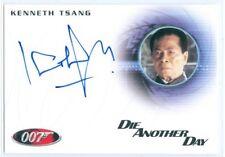 "KENNETH TSANG ""GENERAL MOON AUTOGRAPH CARD A182"" JAMES BOND MISSION LOGS"