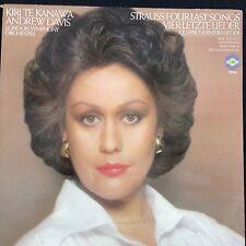 KIRI TE KANAWA: STRAUSS FOUR LAST SONGS 1978 CBS LP 76794 Gatefold + lyric sheet