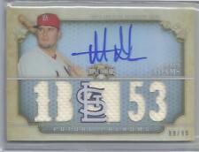 2013 Topps Triple Threads Baseball Matt Adams Auto 5 Piece Jersey Card # 89/99