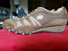 Sketchers Troopers Brown Leather Lace Up Shoes Women's U.S. 11