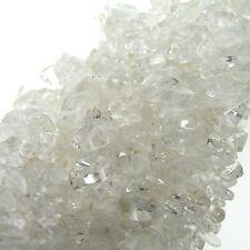 "Crystal Quartz Chip Beads 35"" Strand Semi Precious Gemstone"