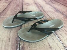 4f03659c PATAGONIA Womens Size 7 M Black Leather Flip Flop Sandals T11336 45v