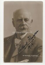 Richard Flanagan Actor 1915 RP Postcard Autographed In Ink 810b