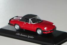 Alfa Romeo Spider 1983 rot-schw. 1:43 MaXichamps Minichamps 940120761 neu & OVP
