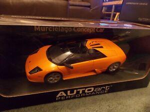 AutoArt Lamborghini Murcielago Roadster Concept, Orange, 1/18th scale, MIB.