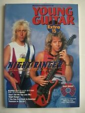 NIGHT RANGER YOUNG GUITAR EXTRA 15 JAPAN MAG GUITAR SCORE TAB w/ CD