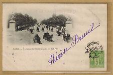 Cpa Paris - l'avenue des Champs Elysées rp0394
