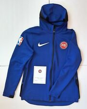 NBA × Nike Game Used Worn Warm Up Hooded Jacket Detroit Pistons 34 Tobias Harris