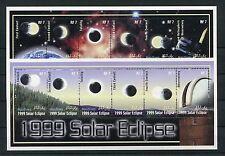 Malediven 3388/89 postfrisch 2 Kleinbogen / Weltraum - Sonnenfinsternis 1/2265
