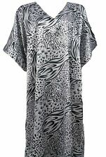 Satin Caftan in Classic Animal Print, One Size, Up2date Fashion Style Caf-31C2