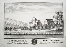 Schloß Schollenberg Flaach Zürich Schweiz Kupferstich von Herrliberger 1758