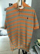 Orange, Green and Light Blue Strips Polo Shirt by Ralph Lauren