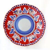Vietri Servizio Piatti 2pz. in Ceramica Vietri 100% decorato a mano Rosso