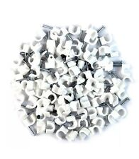 White RG6 Coax Cable Nail Clips Box Of 100