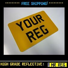 """MOTORBIKE MOTORCYCLE NUMBER PLATE SIZE 7"""" x 5"""" CUSTOM SHOW PLATE"""
