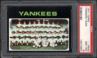 1971 TOPPS #543 NEW YORK YANKEES TEAM PSA 8 NM/MT