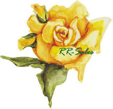 25 Yellow Rose Shabby Vtg Chic Washed Wallies Wallpaper Cutouts Decal Sticker Pk