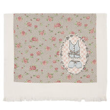 Clayre & eef Jane Guest Towel Hand 11 13/16x23 5/8in Cotton Rose