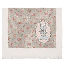 Clayre&Eef Jane Gästehandtuch Handtuch Gästetuch 30x60cm Baumwolle Rose