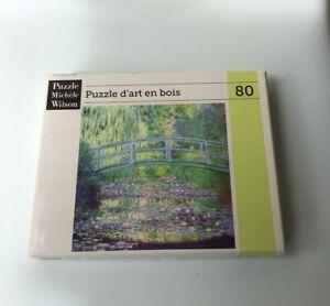 Michele Wilson Wooden Art Puzzle 80 Piece Monet Garden Giverney Hand Made France