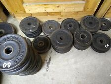 "Standard Weight Single Plate 5 lb 1"" Middle Hole lbs Weights Pound Set Plates"