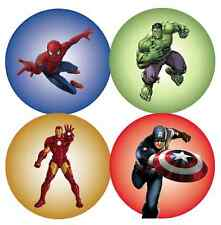 70 x MIXED Marvel Superheroes Stickers NON Personalised Party Bag Thank You 347