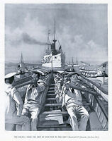LIFE BOAT CREW ROWING OARS NAVY BOAT SERVICE SAILORS SQUADRON FITNESS DRILLS