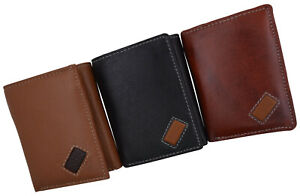 RFID Blocking Handcrafted Genuine Leather Men's Premium Trifold Wallet