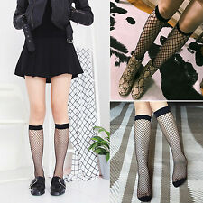 Women Fishnet Knee High Socks Mesh Lace Fish Net Tight Stocking Ladies Burlesque