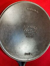 Wagner Ware Sidney National Cast Iron # 9 skillet * FLAT *