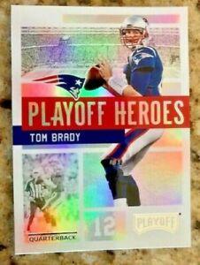 Tom Brady 2018 Panini Playoff Football Playoff Heroes #1 Insert