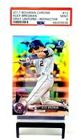 2017 Bowman Chrome REFRACTOR Astros ALEX BREGMAN Rookie Card /499 PSA 9 MINT