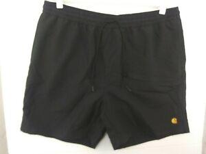Carhartt WIP Chase Swim Trunks in Black NWT Men's Small I026235