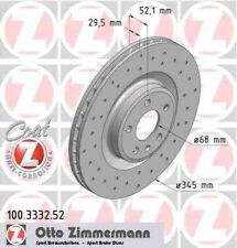 Disque de frein avant ZIMMERMANN PERCE 100.3332.52 AUDI A5 Sportback 8TA 3.0 TDI