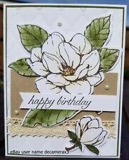 HAPPY BIRTHDAY HANDMADE CARD KIT, STAMPIN' UP GOOD MORNING MAGNOLIA, FLOWER